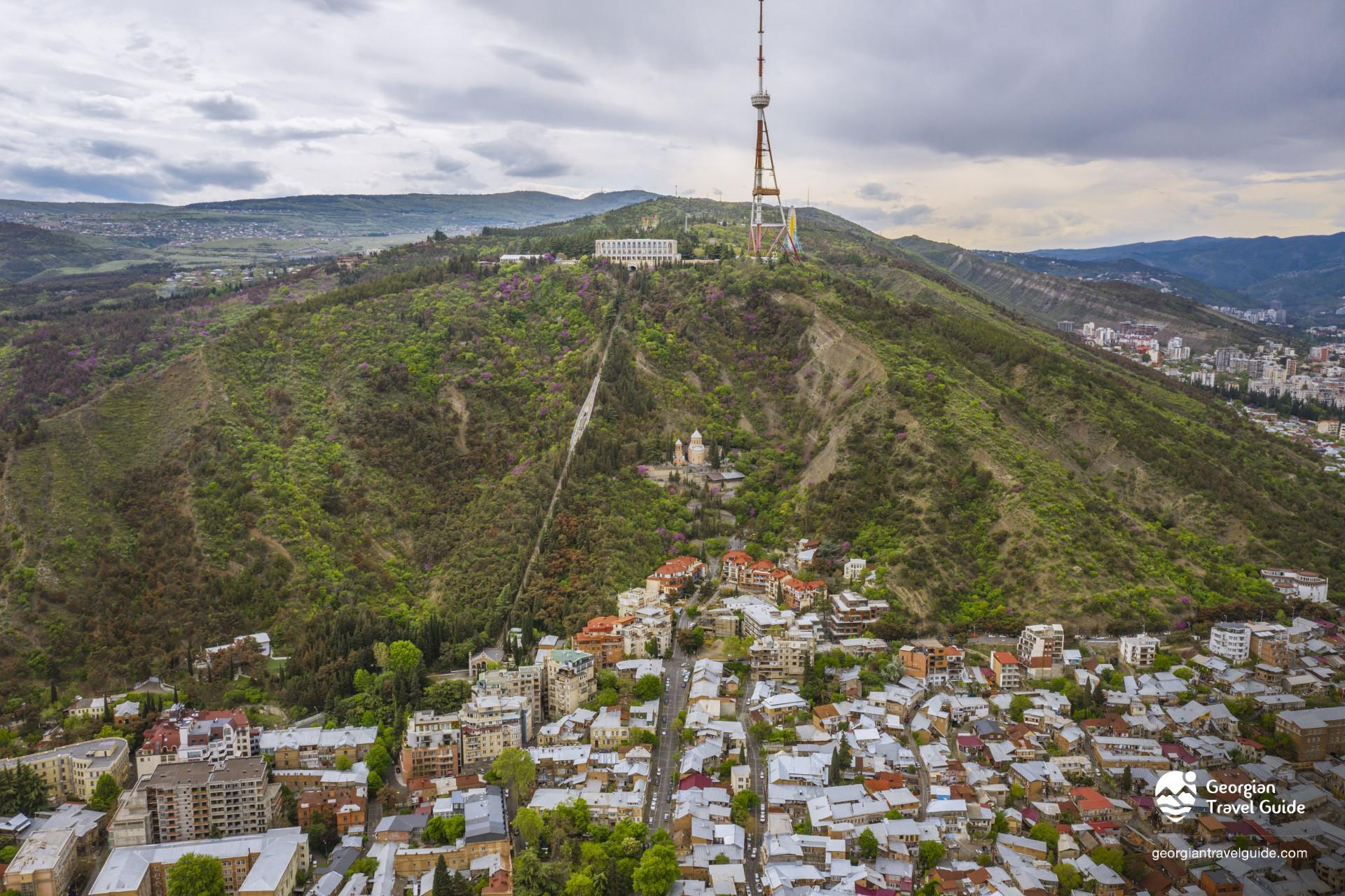 Tbilisi, Funicular, Mamadaviti, Father\'s David church, Mtatsminda, TV Tower
