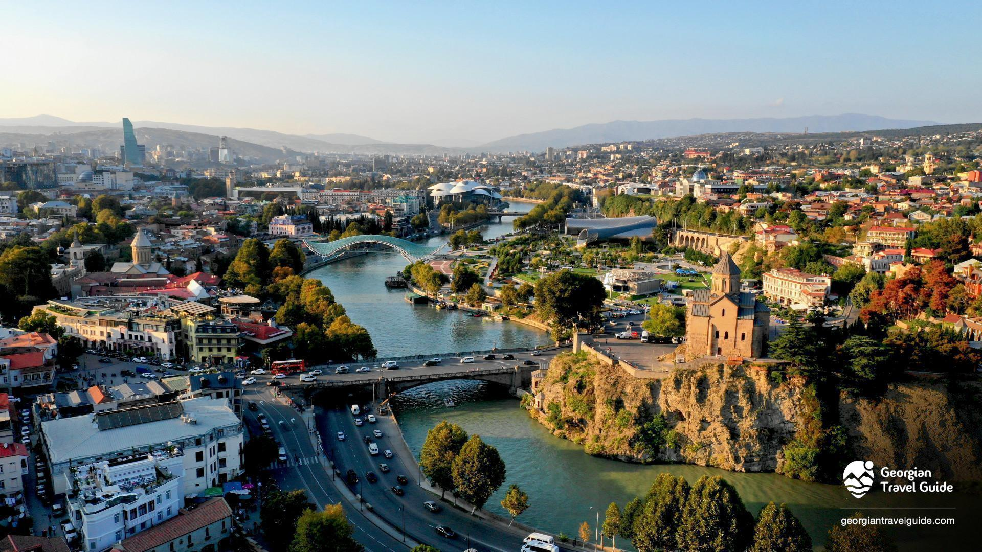 view over tbilisi from narikala